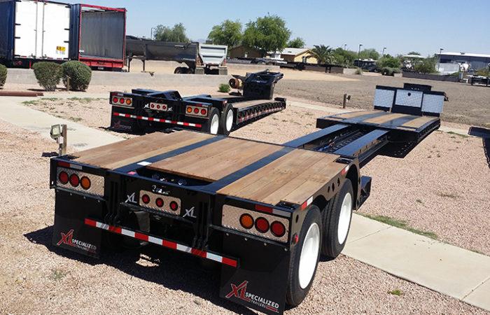 Double Drop Trailer : Extendable trailers for sale stretch drop deck double