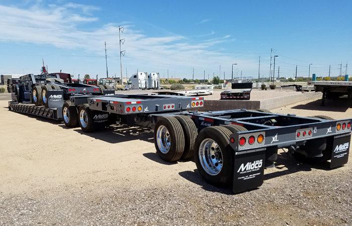 65 ton lowboy trailer