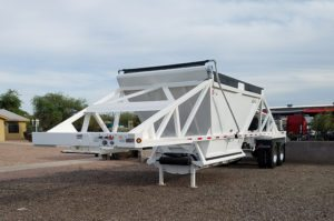 tandem axle belly dump trailer