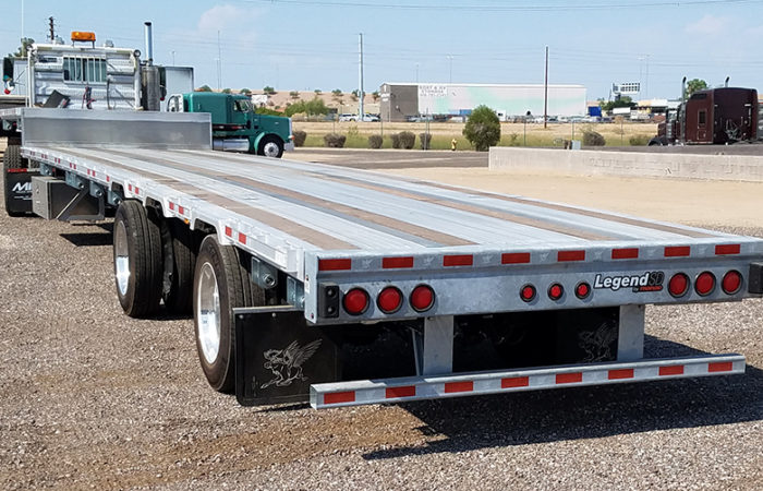 Manac drop deck trailer