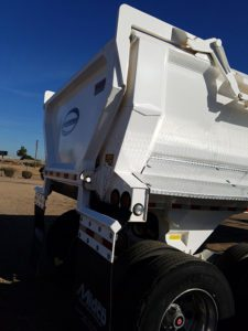used veradyn end dump trailer