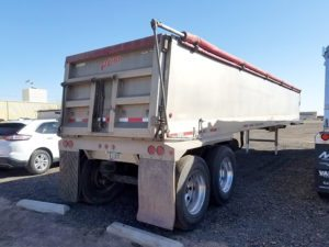 used vantage aluminum end dump