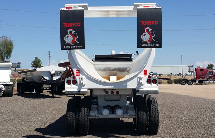 Ranco half round end dump trailer