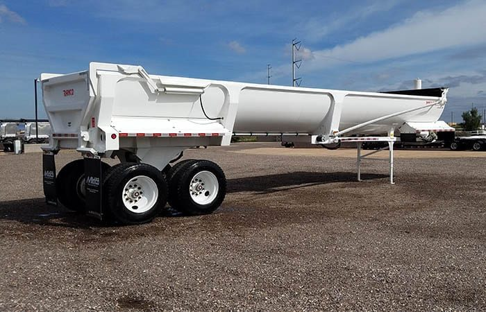 Ranco end dump trailer