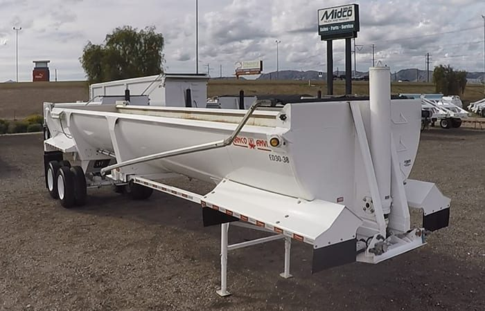 Ranco end dump tarp system