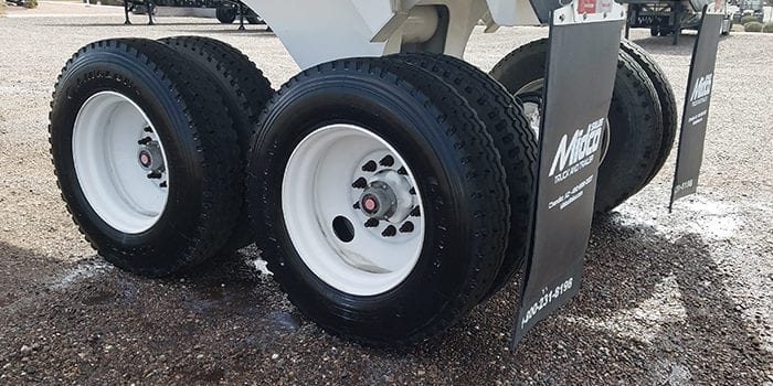Ranco end dump steel wheels