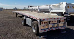 used aluminum flatbed trailer