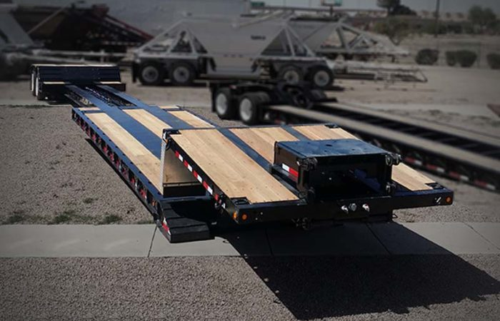 extendable double drop trailer in iowa