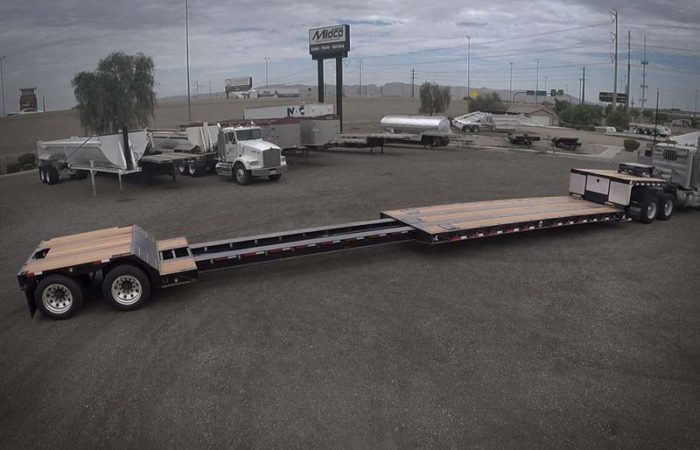 xl 80 mde extendable double drop trailer