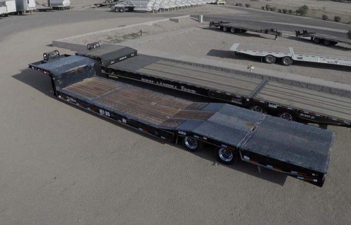 Talbert hydraulic tail double drop trailer