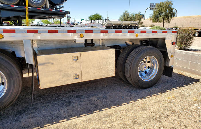 flatbed trailer toolbox