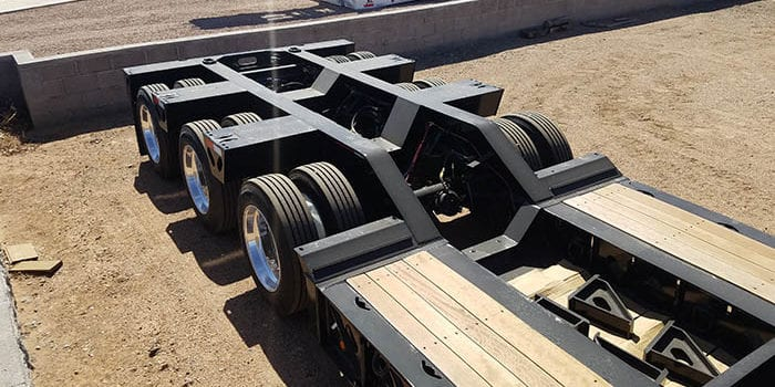 lowboy trailer rear bridge