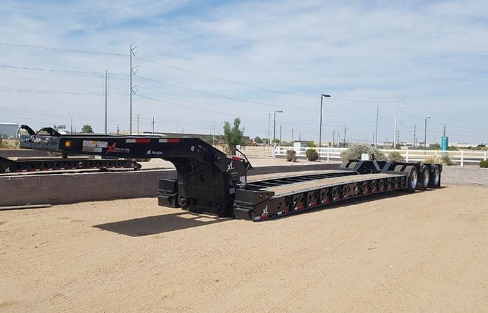 xl specialized xl110 55 ton lowboy trailer