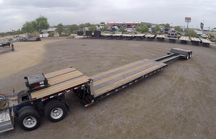 xl specialized extendable double drop trailer