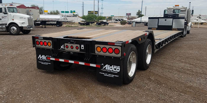 extendable double drop trailer