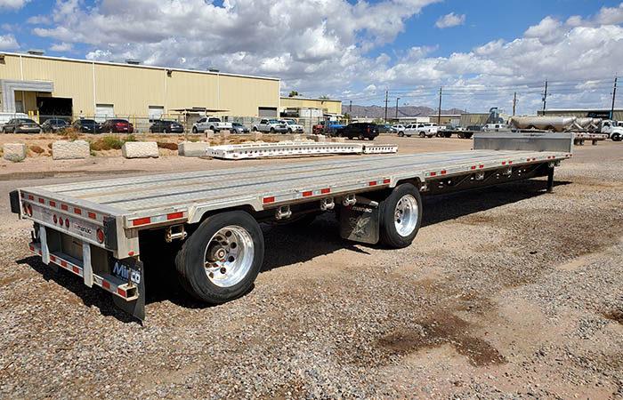 used manac drop deck trailer