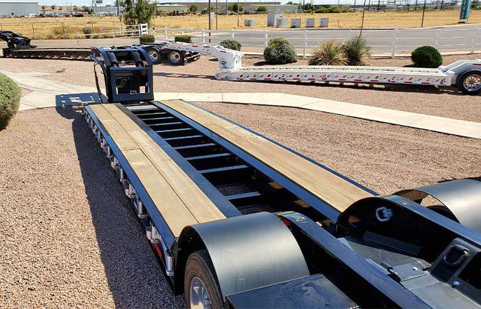 lowboy trailer deck