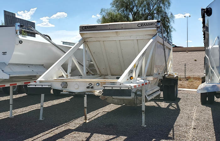 used Ranco belly dump trailer