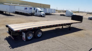 flatbed trailer piggyback forklift kit