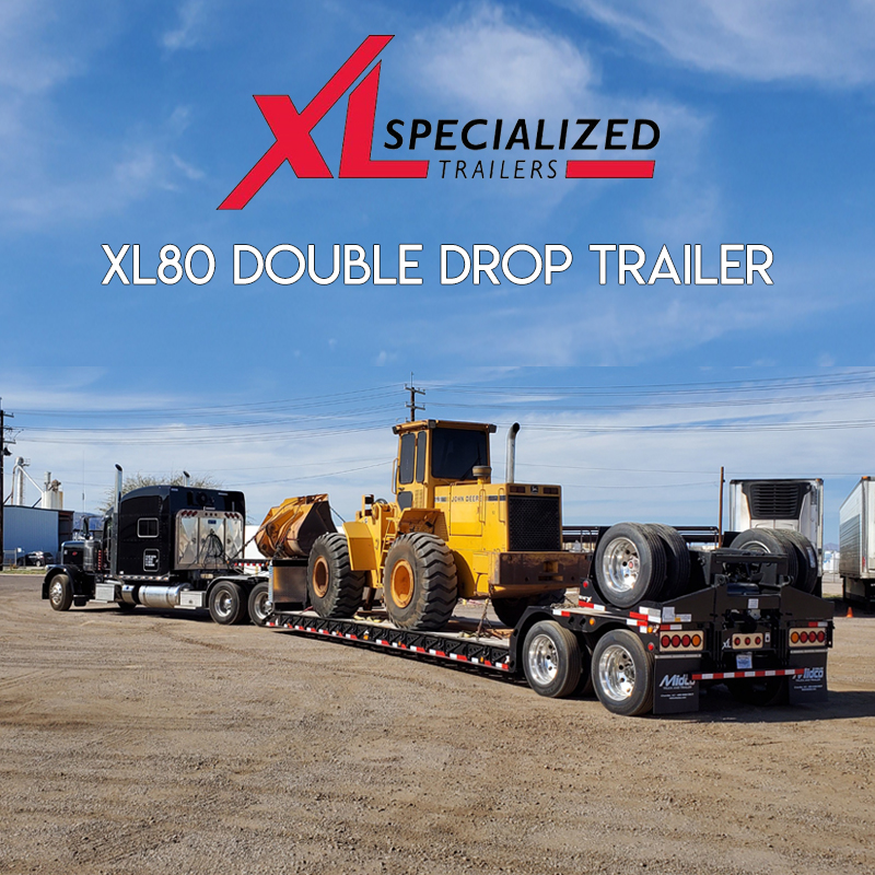 XL Specialized double drop trailer with flip axle