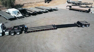 Extendable lowboy trailer